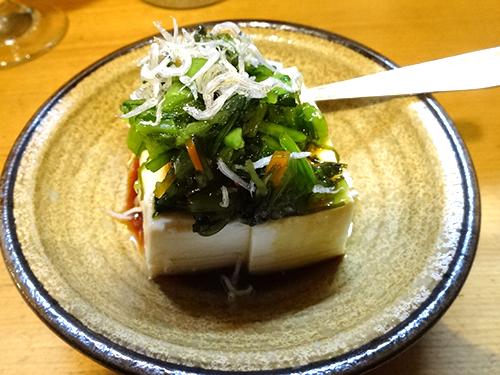 05お通し野沢菜壬生菜めかぶ