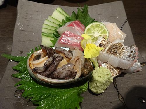 25天然真鯛、穴子、太刀魚、姫アワビ