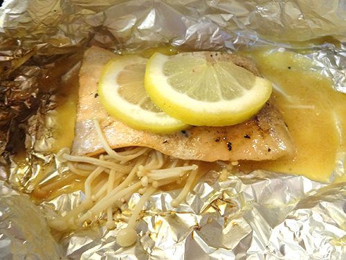07鮭腹身のバター醤油ホイル焼き