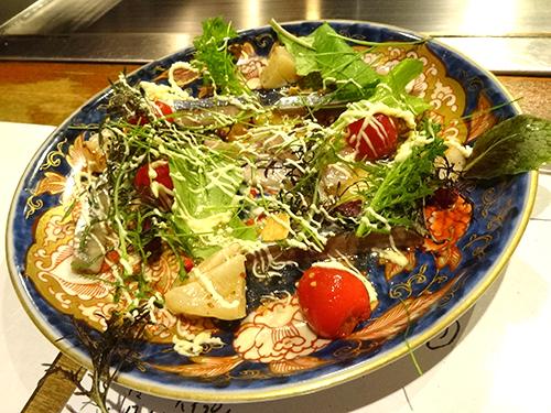 07さんまとほたてのサラダ風カルパッチョ