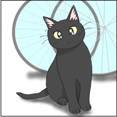 黒猫ちゃんです。