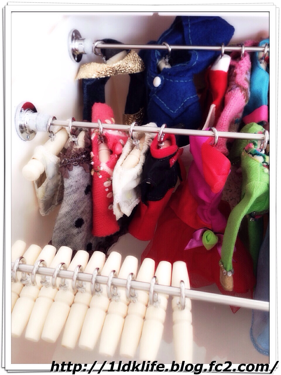リカちゃん人形用手作りクローゼット