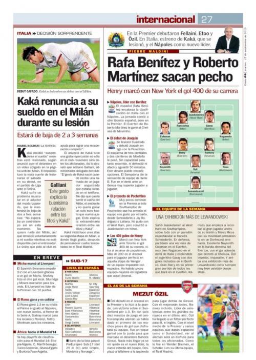 長友がスペインAS紙の欧州ベスト11に選ばれる!