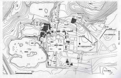 金閣寺境内発掘調査図