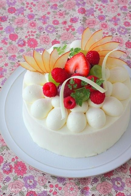 1023デコレーションケーキ花柄2