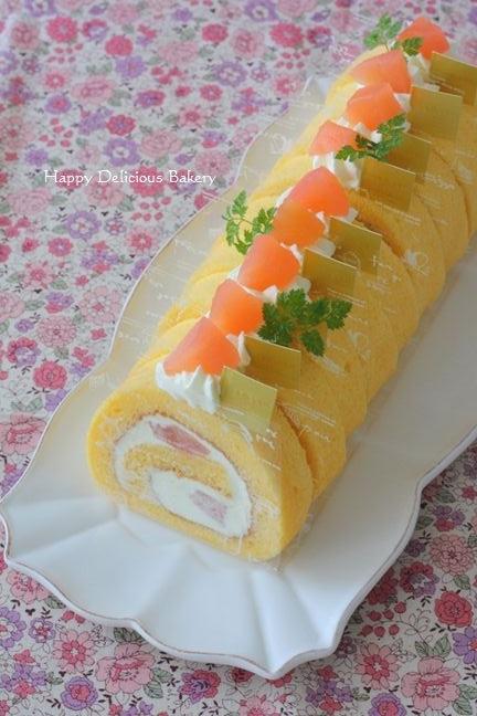 1108紅玉のロールケーキ