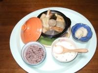 10/12 夕食 おでん、大根の塩麹漬け、じゃがいものポタージュ、黒米ごはん