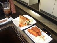 10/30 昼食 大阪城セットのイカ焼き・串カツ 道頓堀 ぼて茶屋