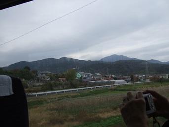 11/20 ロマンスカーの車窓から大山