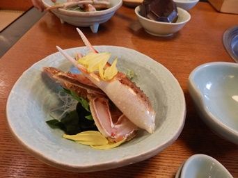 11/9 誕生日祝い  蟹刺身  甲羅本店