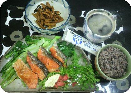 1-31鮭の朝ごはん