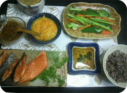 2-8鮭と野菜スティック