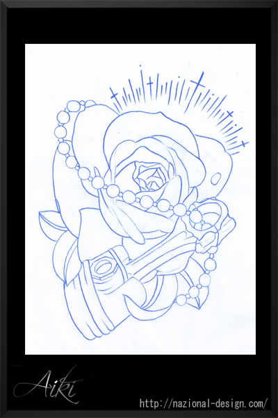 タトゥーフラッシュ バラ ピストン 13922