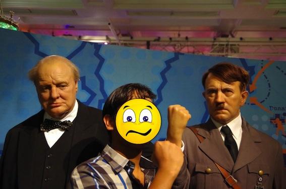 pizapチャーチルとヒトラー