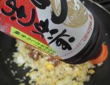 焼き鳥缶で親子炒飯 調理⑤