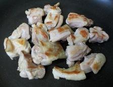 チキンのトマト生姜煮 調理①
