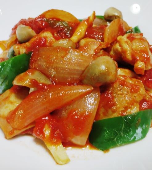 チキンのトマト生姜煮 B