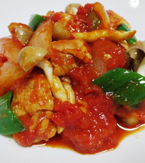 チキンのトマト生姜煮 拡大