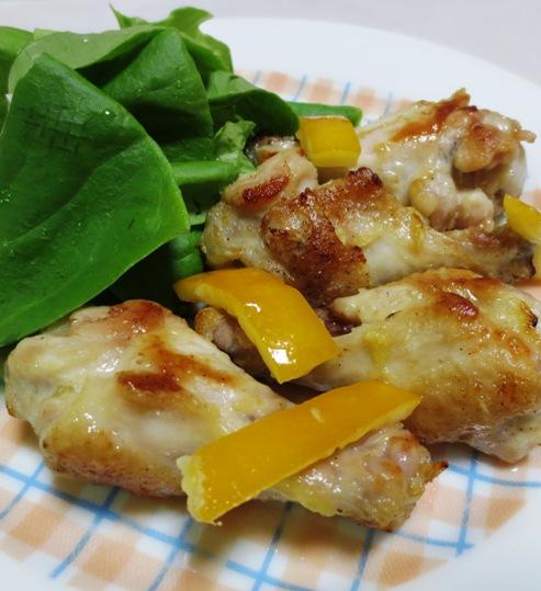 鶏手羽元の塩レモン焼き B