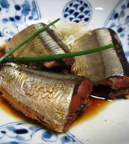 秋刀魚の醤油煮 大