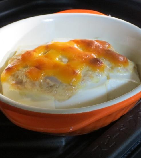 豆腐のツナマヨチーズ焼き 大