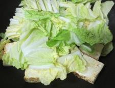 焼き豆腐と白菜の回鍋肉風 調理③