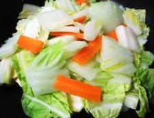 焼き豆腐と白菜の回鍋肉風 調理④