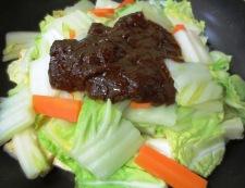 焼き豆腐と白菜の回鍋肉風 調理⑤