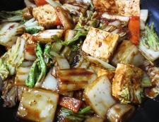 焼き豆腐と白菜の回鍋肉風 調理⑥