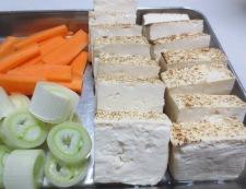 焼き豆腐と白菜の回鍋肉風 【下準備】①
