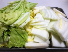 焼き豆腐と白菜の回鍋肉風 【下準備】②