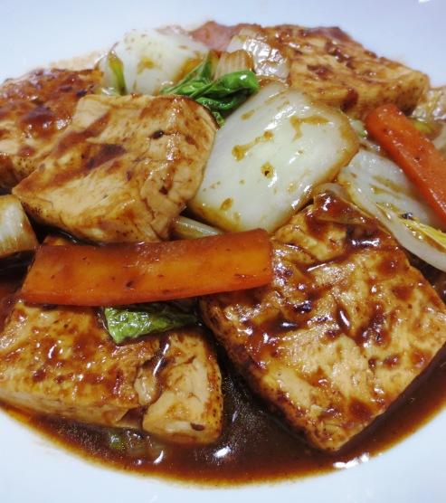 焼き豆腐と白菜の回鍋肉風 大