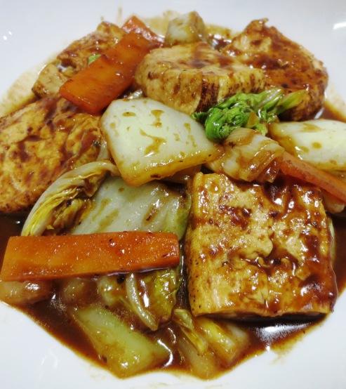 焼き豆腐と白菜の回鍋肉風 拡大