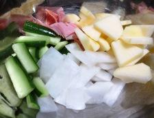 りんごと大根のサラダ 調理②