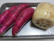 ホタテと根菜の炒め物 材料②