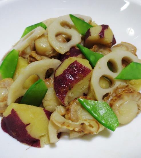 ホタテと根菜の炒め物 B