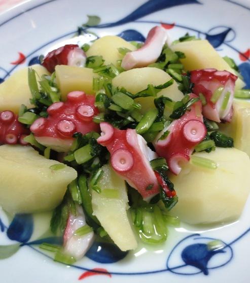 タコとジャガイモの壬生菜和え B