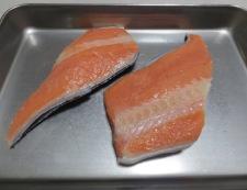 塩鮭とセロリのチャーハン 材料①