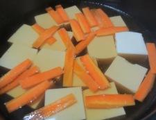 豆腐と青梗菜のうま煮 調理②