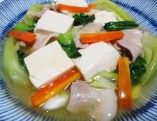 豆腐と青梗菜のうま煮 調理⑥