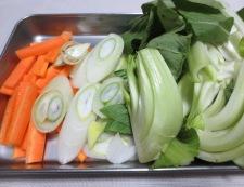 豆腐と青梗菜のうま煮 【下準備】①