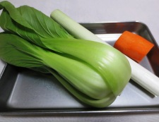 豆腐と青梗菜のうま煮 材料②