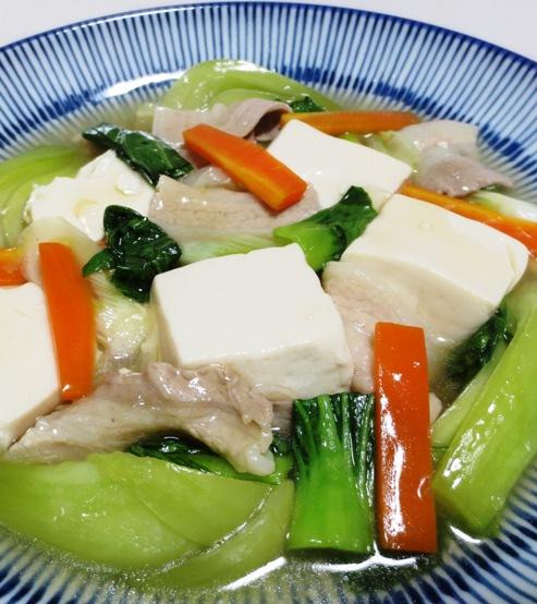 豆腐と青梗菜のうま煮 B