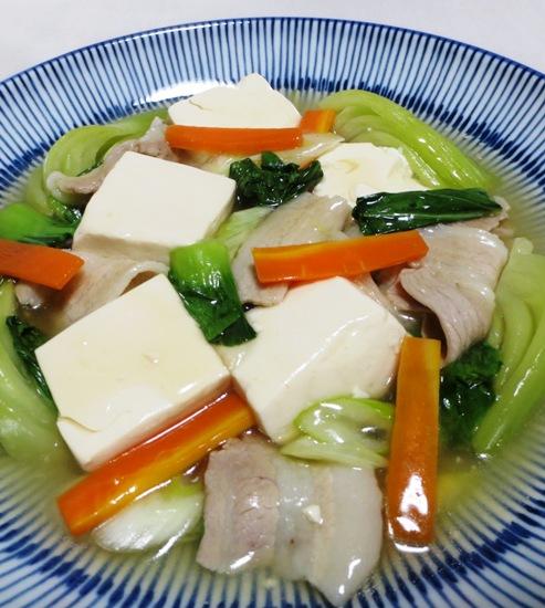 豆腐と青梗菜のうま煮 拡大