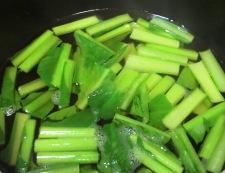 青梗菜とお揚げの炊いたん 調理①