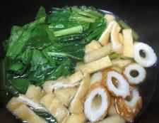 青梗菜とお揚げの炊いたん 調理②