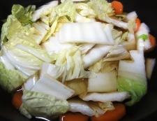 白菜とベーコンの柚子こしょう煮 調理②