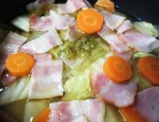 白菜とベーコンの柚子こしょう煮 調理③