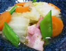 白菜とベーコンの柚子こしょう煮 調理④