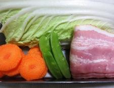 白菜とベーコンの柚子こしょう煮 材料